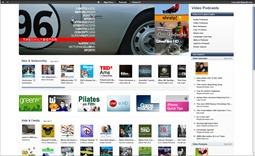 Pagina iTunes cu Video Podcasturi