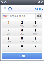 google voice call window
